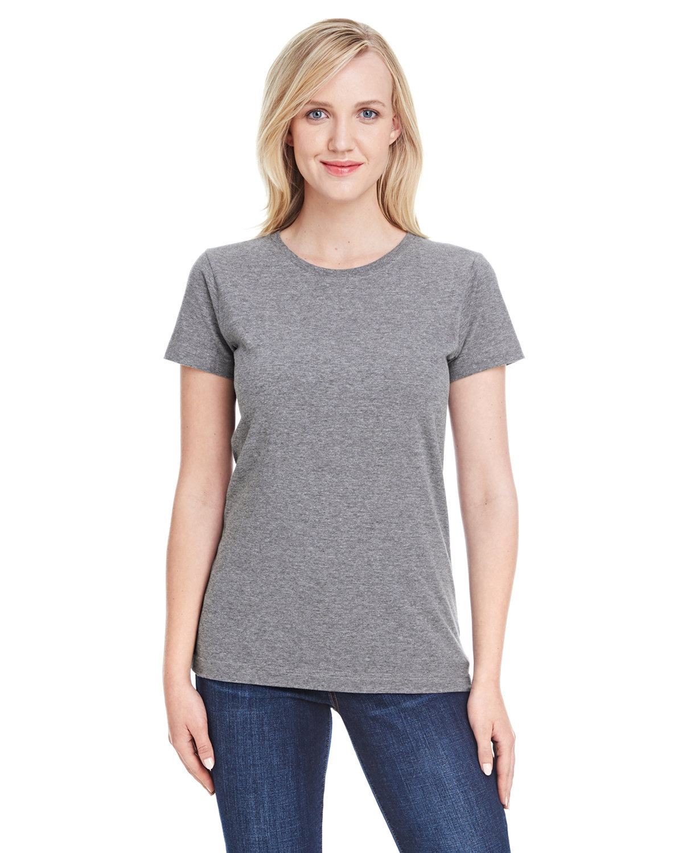 LAT Ladies' Fine Jersey T-Shirt GRANITE HEATHER
