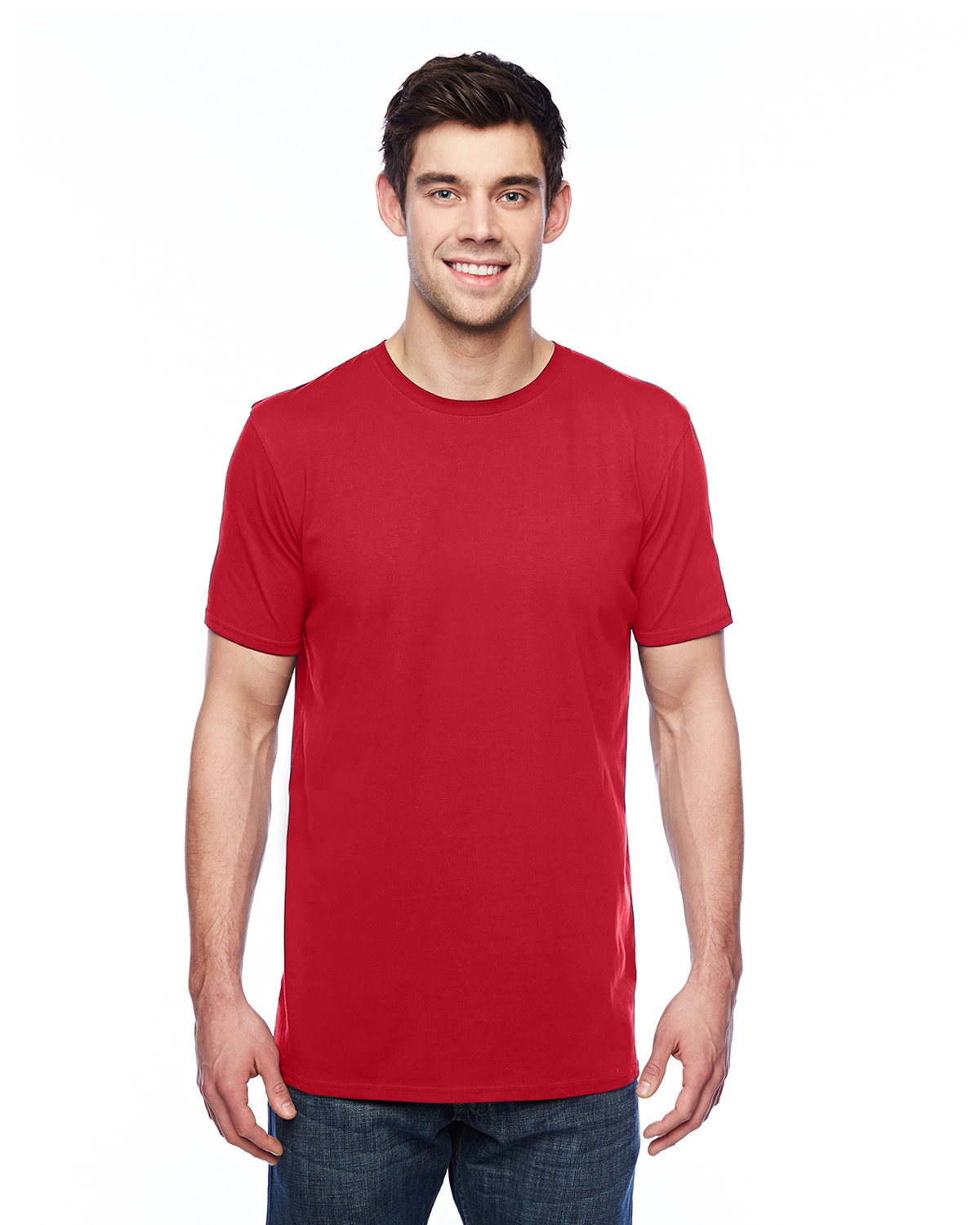 Anvil Adult Featherweight T-Shirt RED