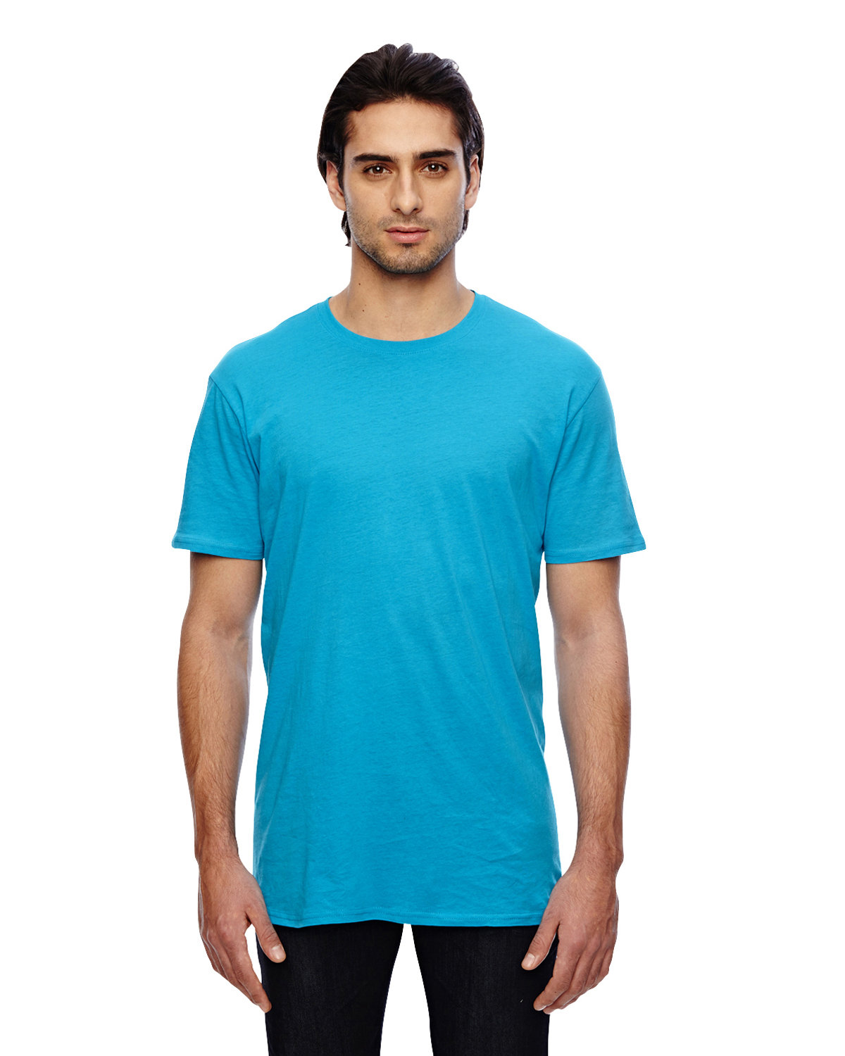 Anvil Adult Featherweight T-Shirt CARIBBEAN BLUE