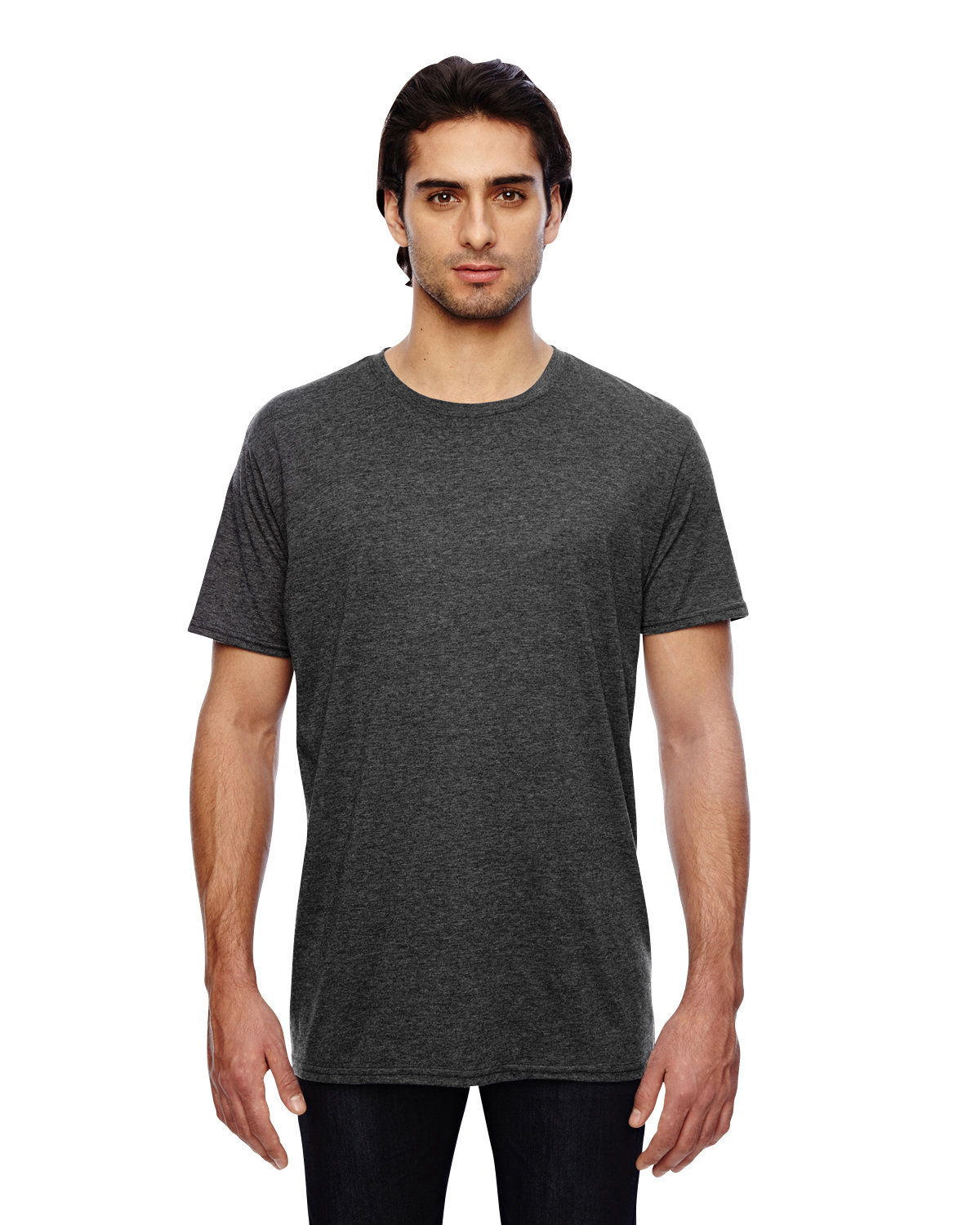 Anvil Adult Featherweight T-Shirt HEATHER DK GRY