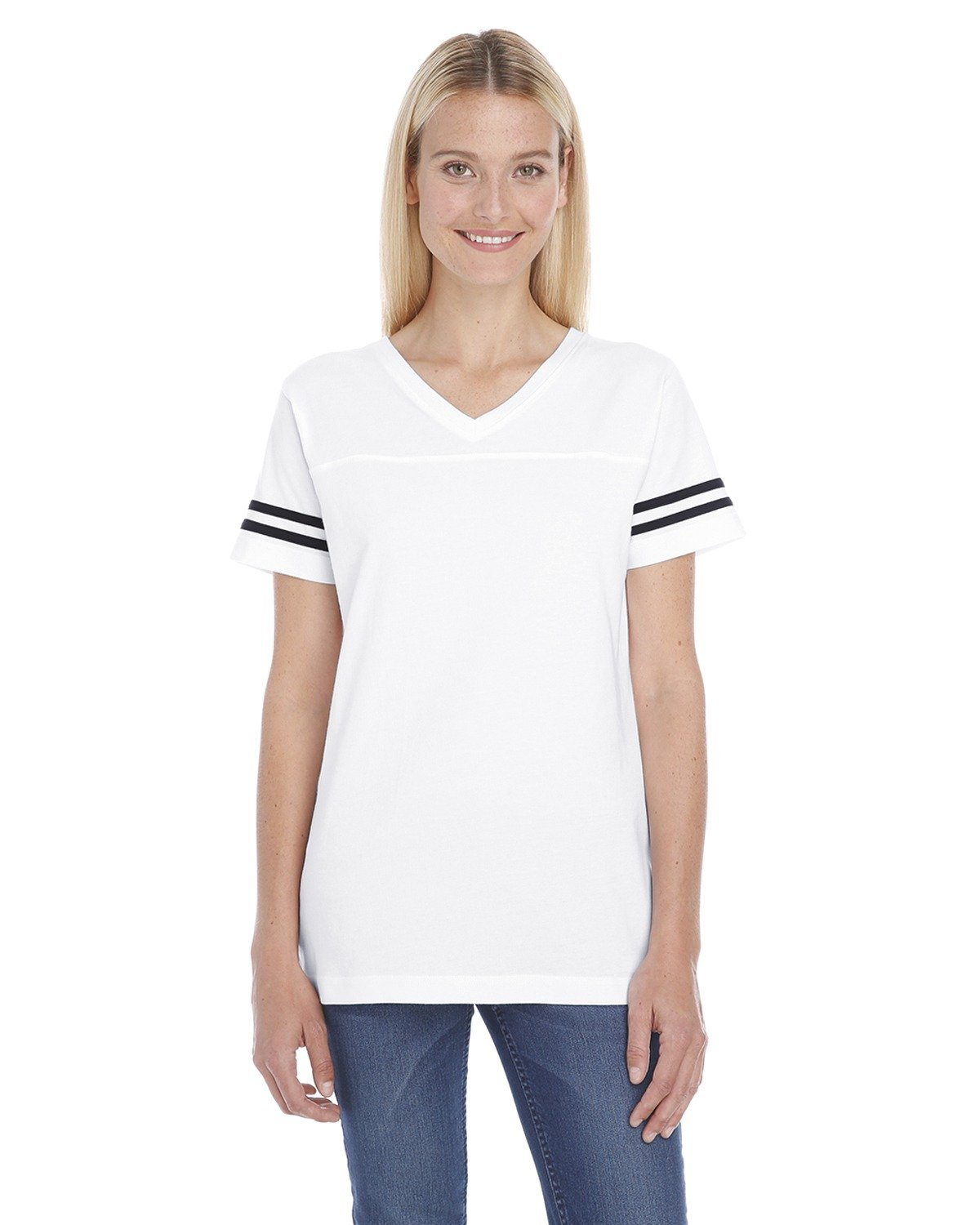 LAT Ladies' Football T-Shirt WHITE/ BLACK