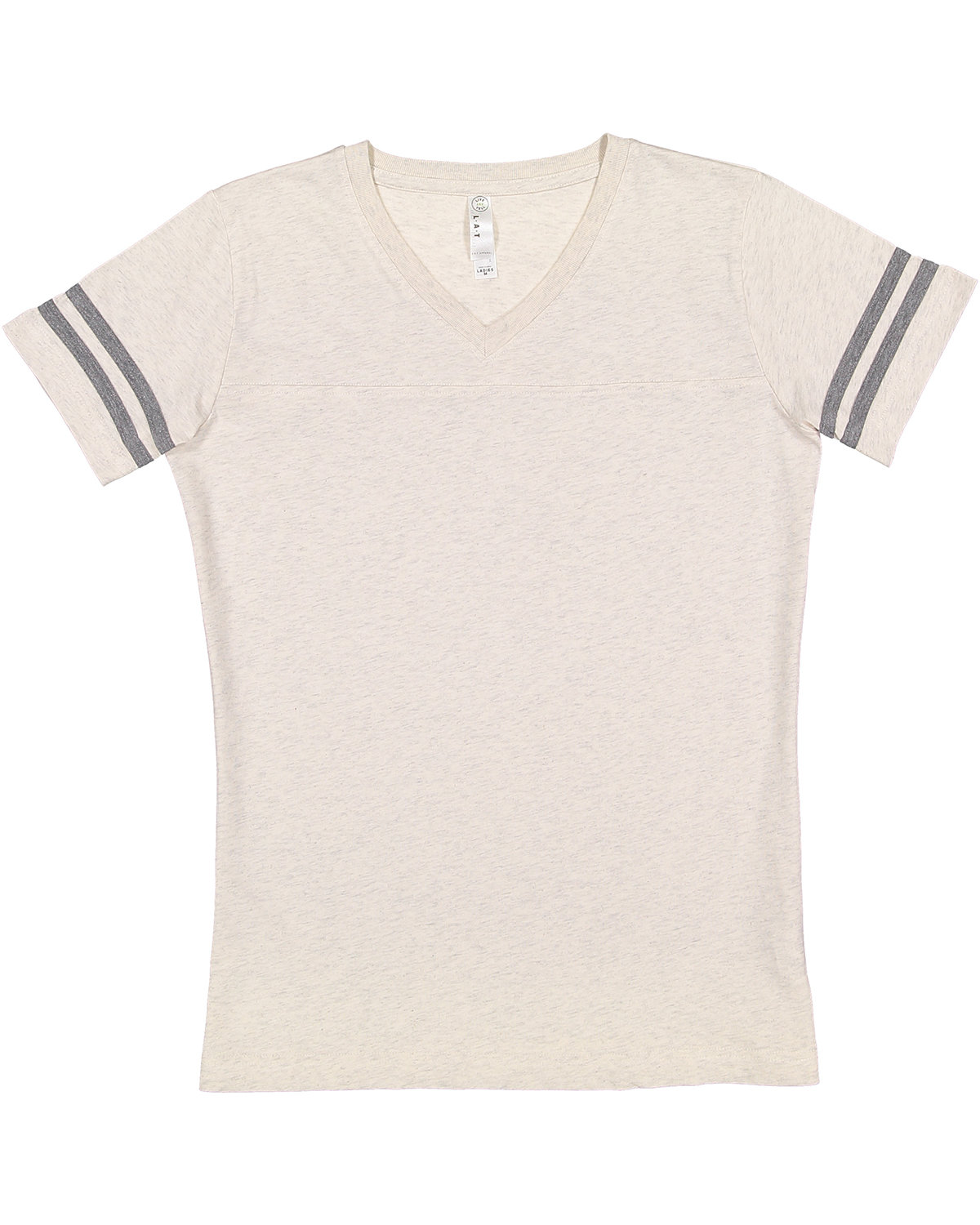 LAT Ladies' Football T-Shirt NAT HTH/ GRAN HT