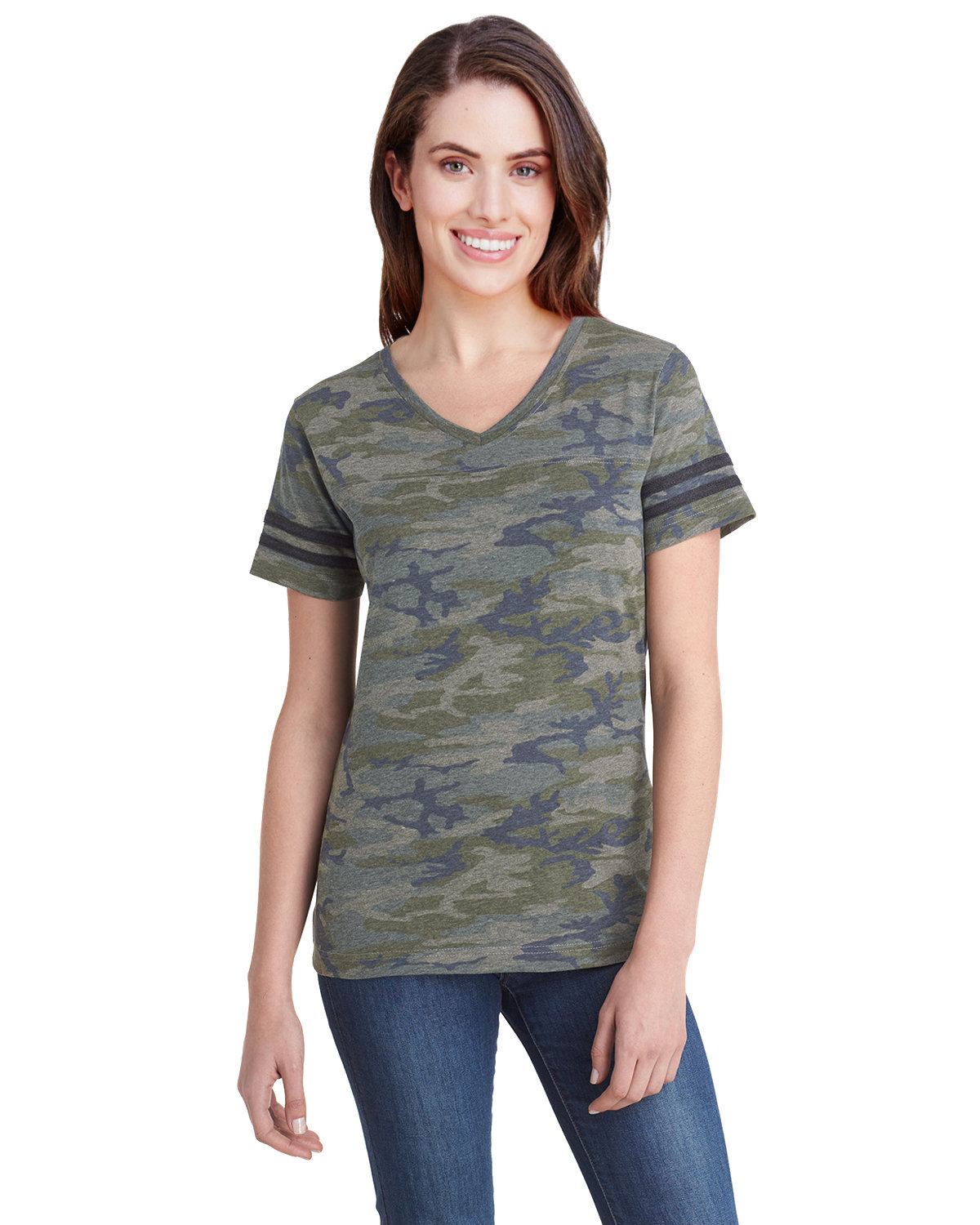 LAT Ladies' Football T-Shirt VN CAMO/ VN SMK