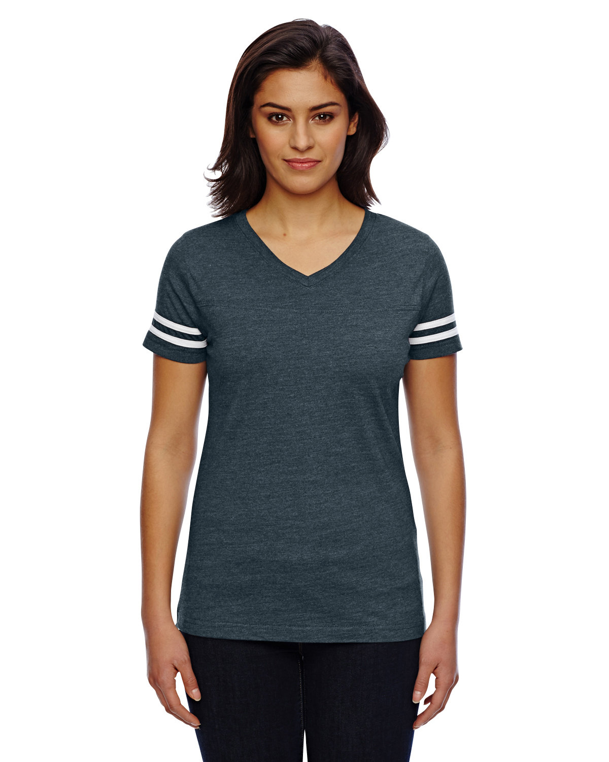 LAT Ladies' Football T-Shirt VN NAVY/ BLD WHT