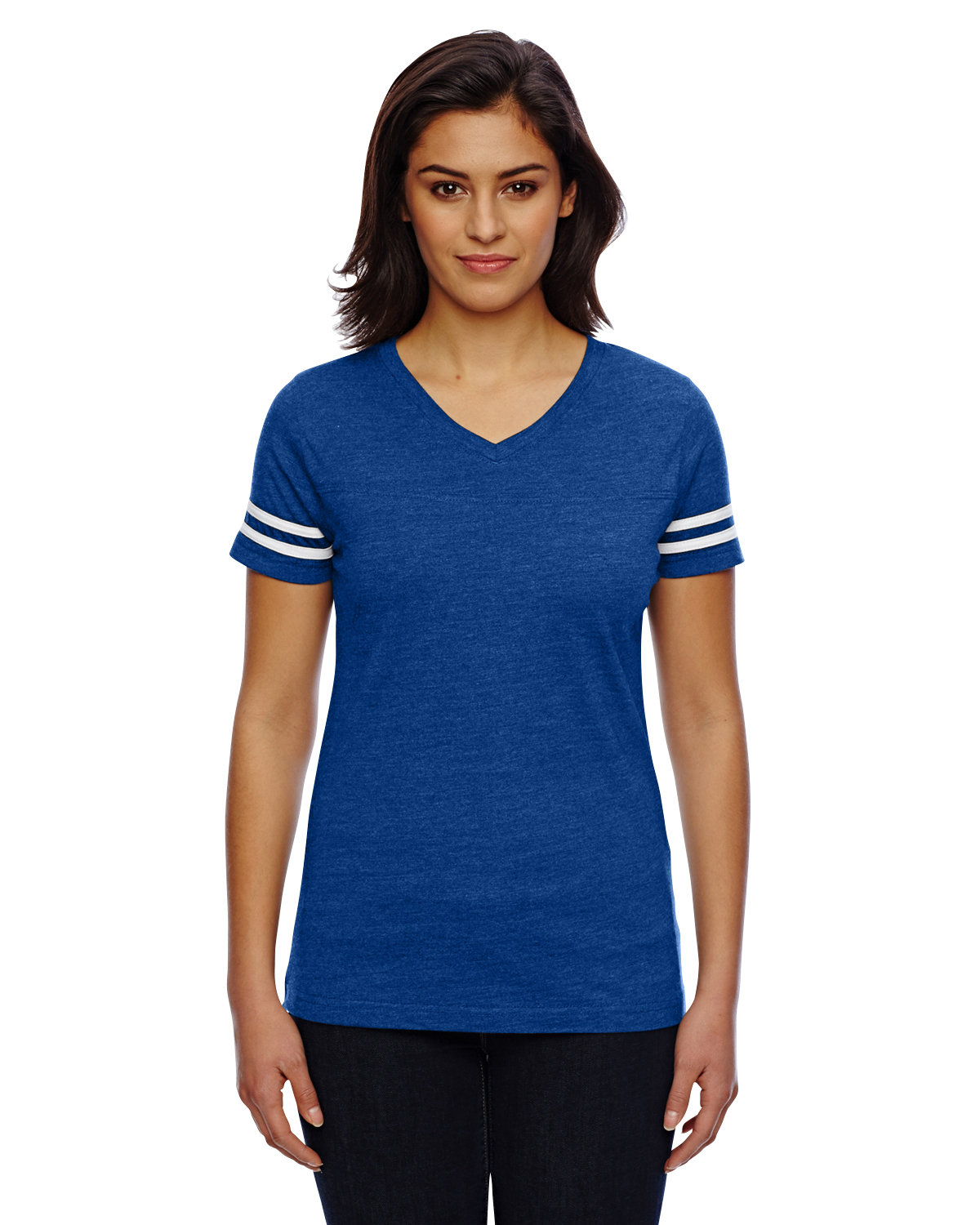 LAT Ladies' Football T-Shirt VN ROYAL/ BD WHT