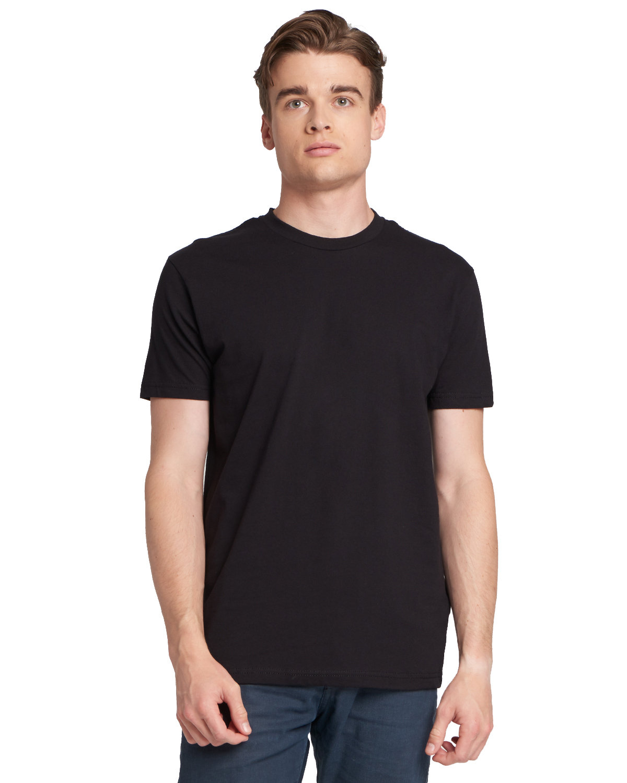 Next Level Men's Made in USA Cotton Crew BLACK