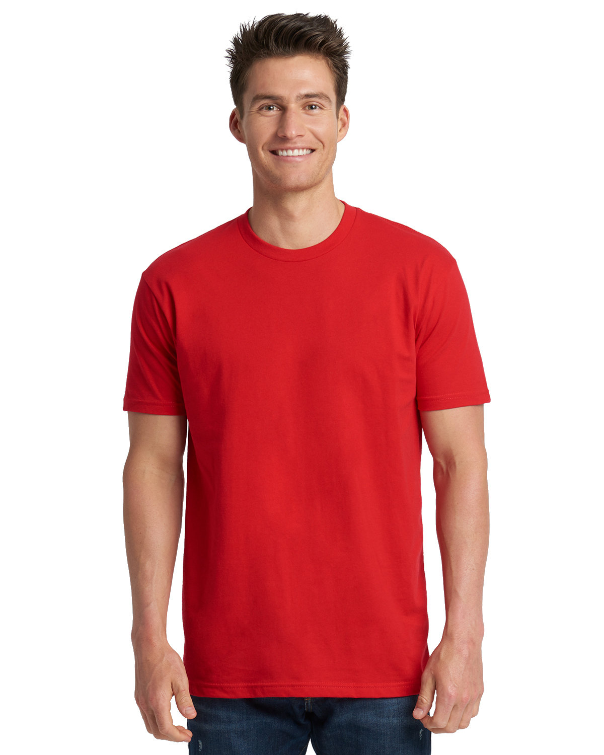 Next Level Men's Made in USA Cotton Crew RED