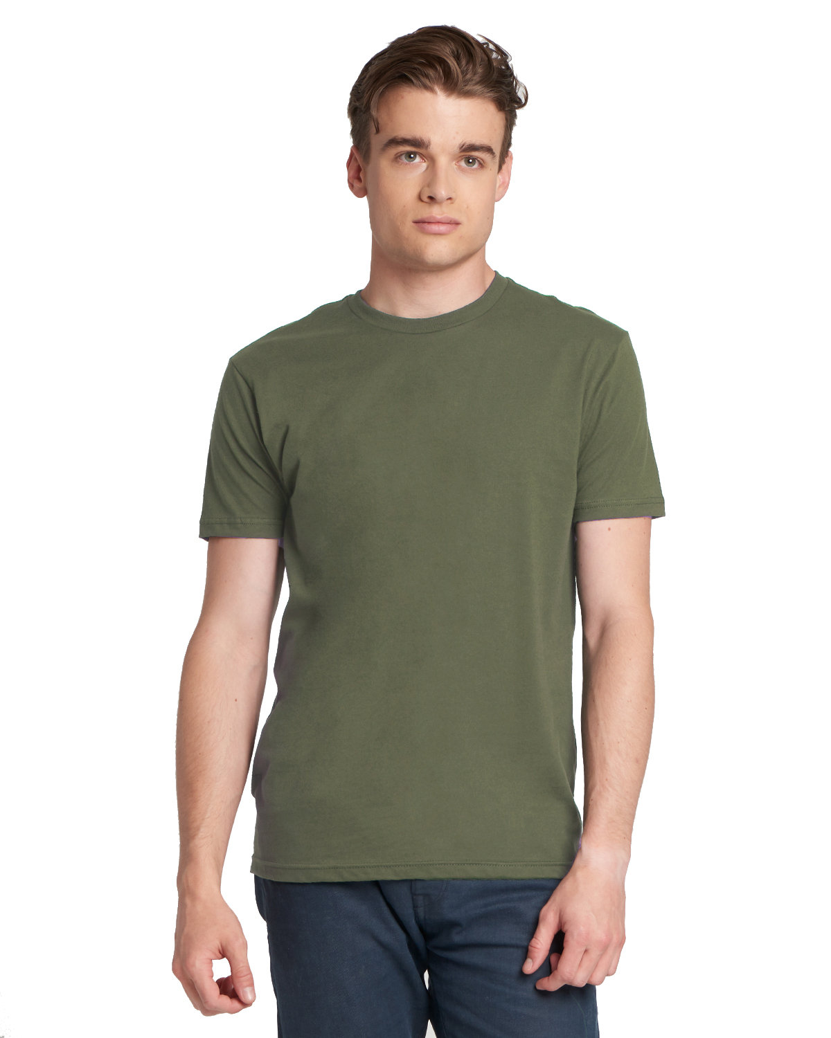 Next Level Men's Made in USA Cotton Crew MILITARY GREEN