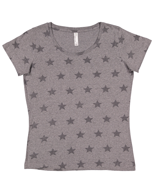 Code Five Ladies' Five Star T-Shirt GRAN HTHR STAR