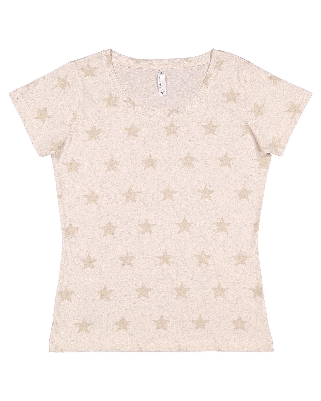 Code Five Ladies' Five Star T-Shirt NATURAL HTH STAR