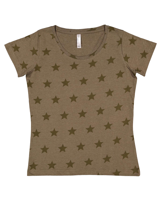 Code Five Ladies' Five Star T-Shirt MILTARY GRN STAR
