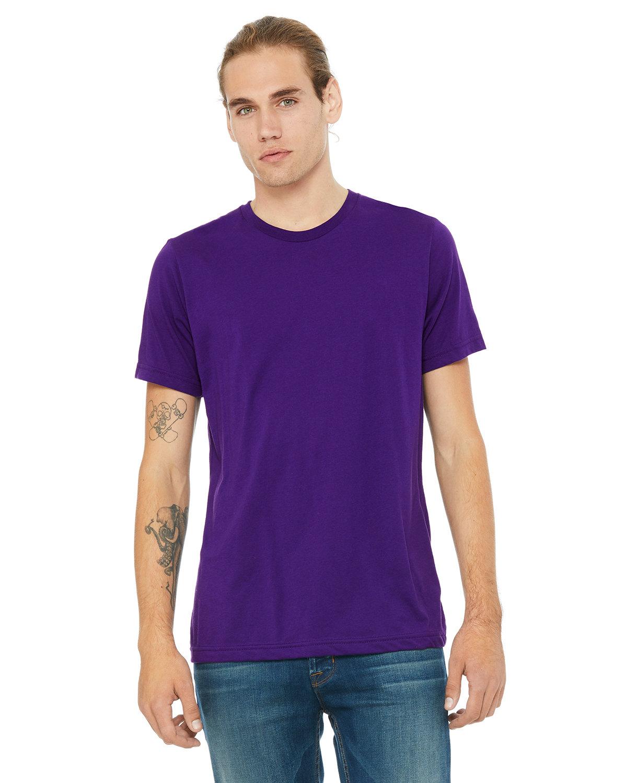 Bella + Canvas Unisex Poly-Cotton Short-Sleeve T-Shirt TEAM PURPLE
