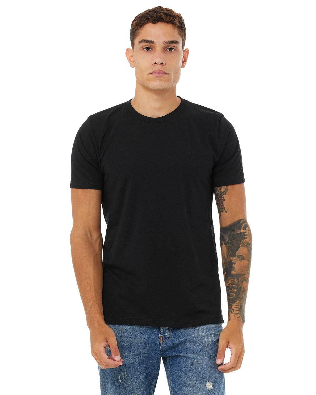 Bella + Canvas Unisex Poly-Cotton Short-Sleeve T-Shirt BLACK