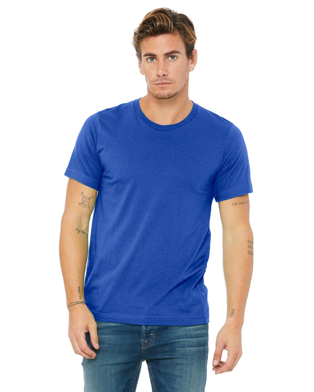 Bella + Canvas Unisex Poly-Cotton Short-Sleeve T-Shirt TRUE ROYAL