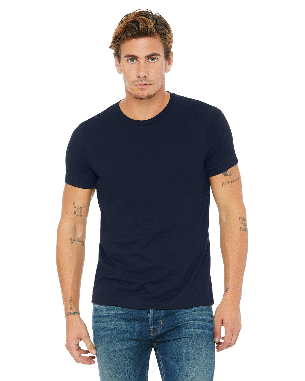 Bella + Canvas Unisex Poly-Cotton Short-Sleeve T-Shirt NAVY
