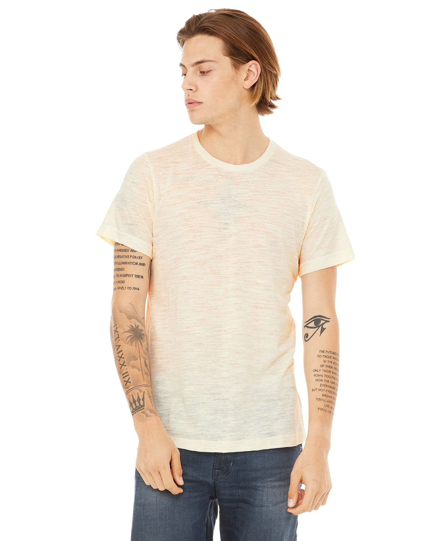 Bella + Canvas Unisex Poly-Cotton Short-Sleeve T-Shirt NATURAL SLUB