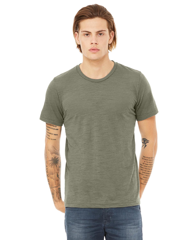 Bella + Canvas Unisex Poly-Cotton Short-Sleeve T-Shirt OLIVE SLUB