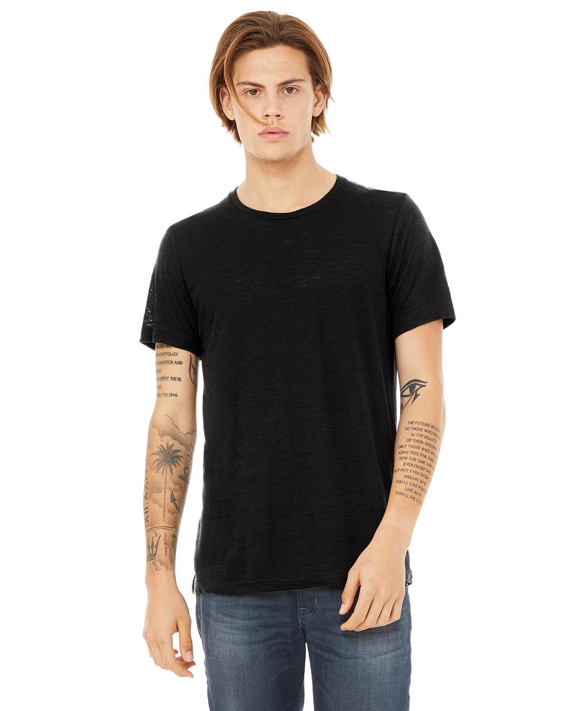 Bella + Canvas Unisex Poly-Cotton Short-Sleeve T-Shirt SOLID BLACK SLUB