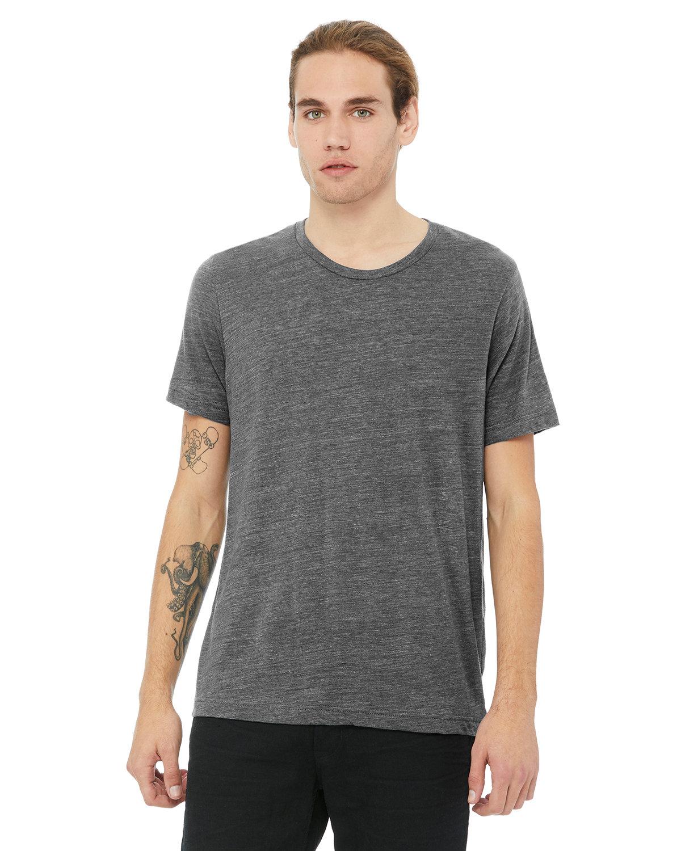 Bella + Canvas Unisex Poly-Cotton Short-Sleeve T-Shirt ASPHALT SLUB