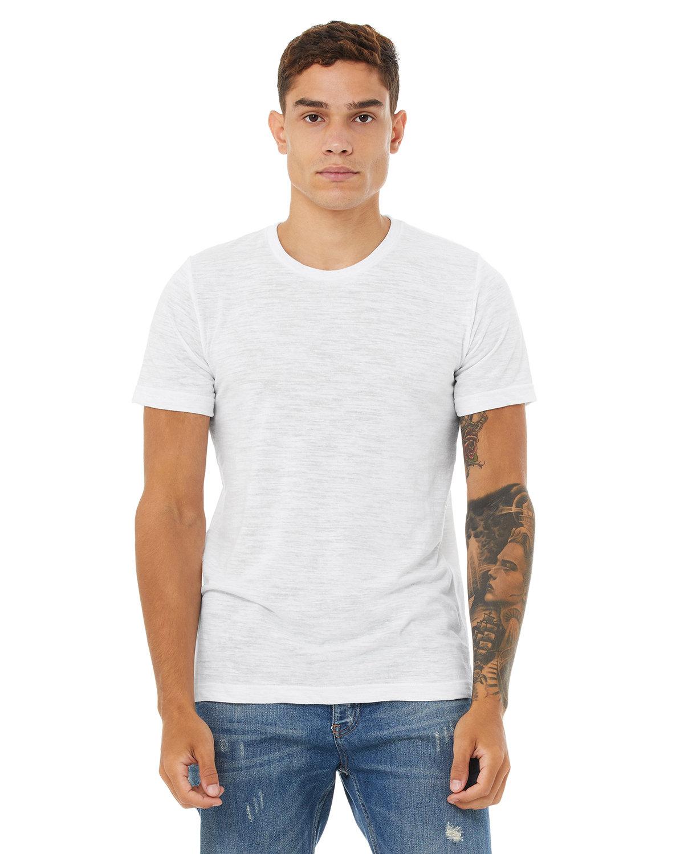 Bella + Canvas Unisex Poly-Cotton Short-Sleeve T-Shirt WHITE SLUB