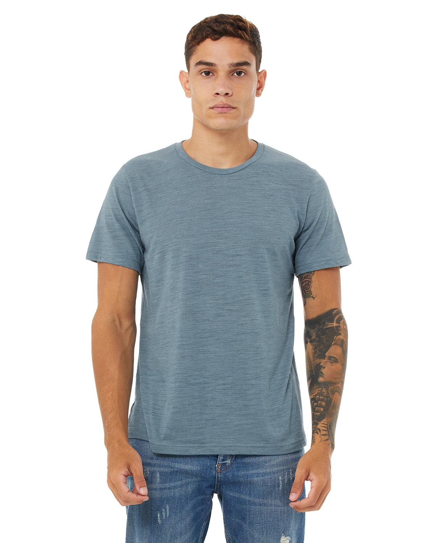Bella + Canvas Unisex Poly-Cotton Short-Sleeve T-Shirt DENIM SLUB