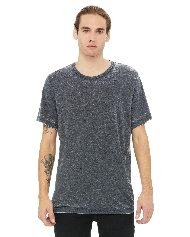 Bella + Canvas Unisex Poly-Cotton Short-Sleeve T-Shirt GREY ACID WASH