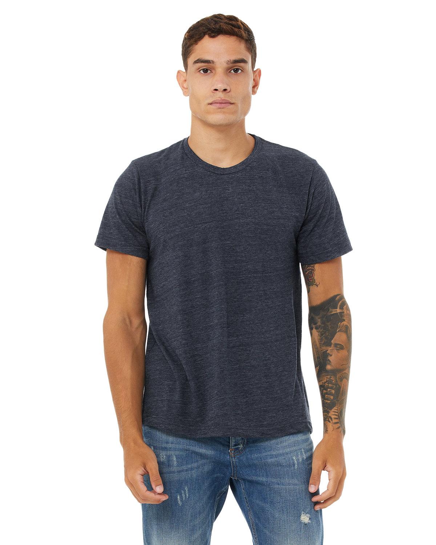 Bella + Canvas Unisex Poly-Cotton Short-Sleeve T-Shirt NAVY SLUB