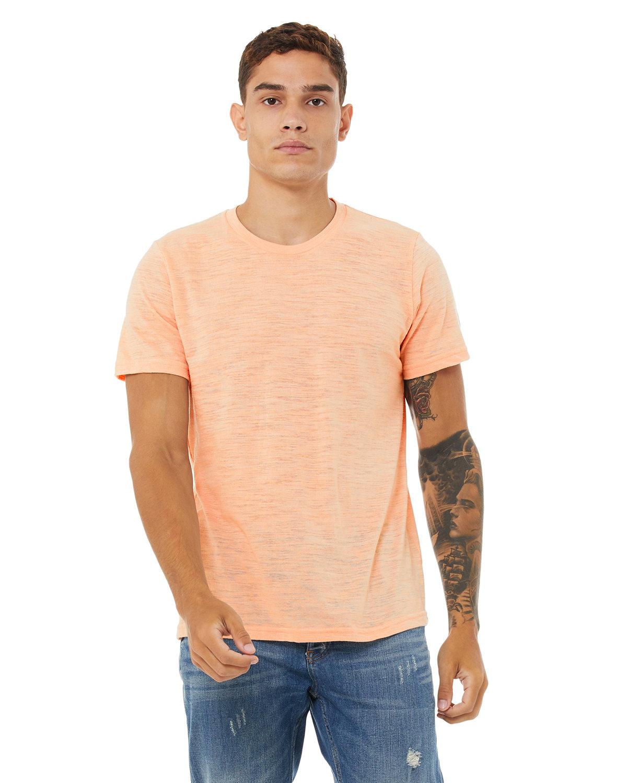 Bella + Canvas Unisex Poly-Cotton Short-Sleeve T-Shirt PEACH SLUB