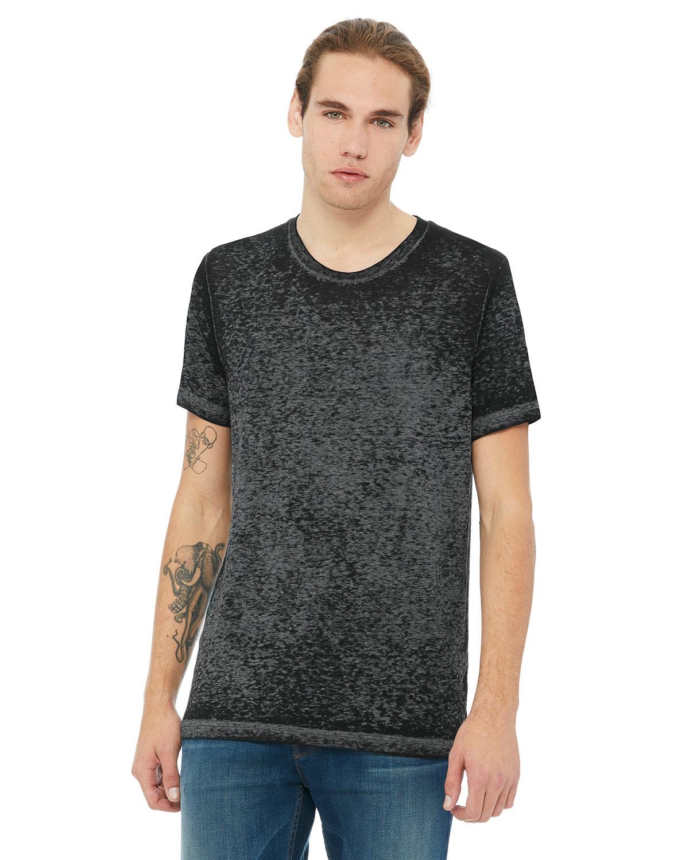Bella + Canvas Unisex Poly-Cotton Short-Sleeve T-Shirt BLK ACID WASH