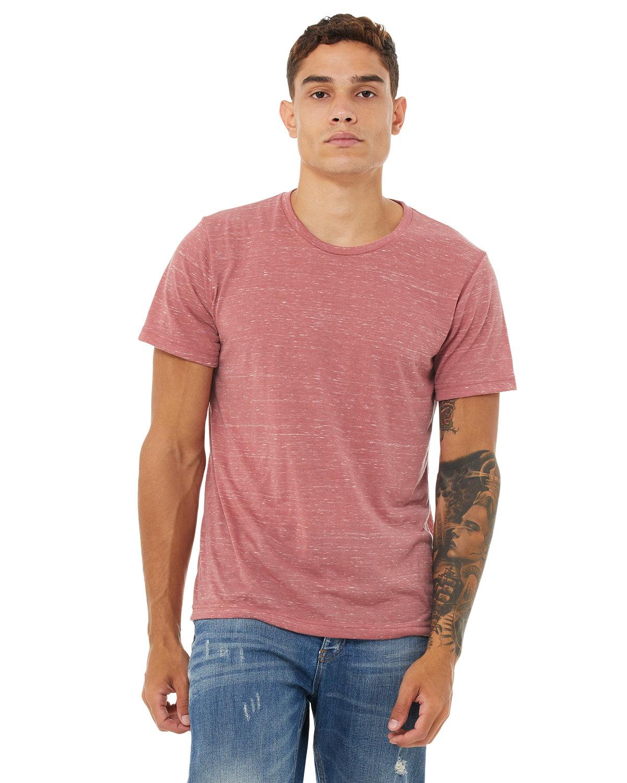 Bella + Canvas Unisex Poly-Cotton Short-Sleeve T-Shirt MAUVE MARBLE