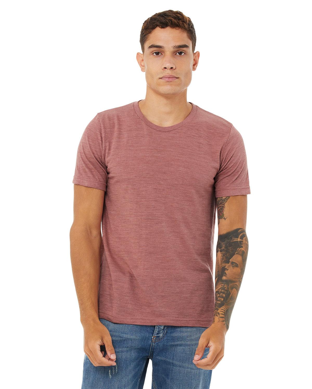 Bella + Canvas Unisex Poly-Cotton Short-Sleeve T-Shirt MAUVE SLUB