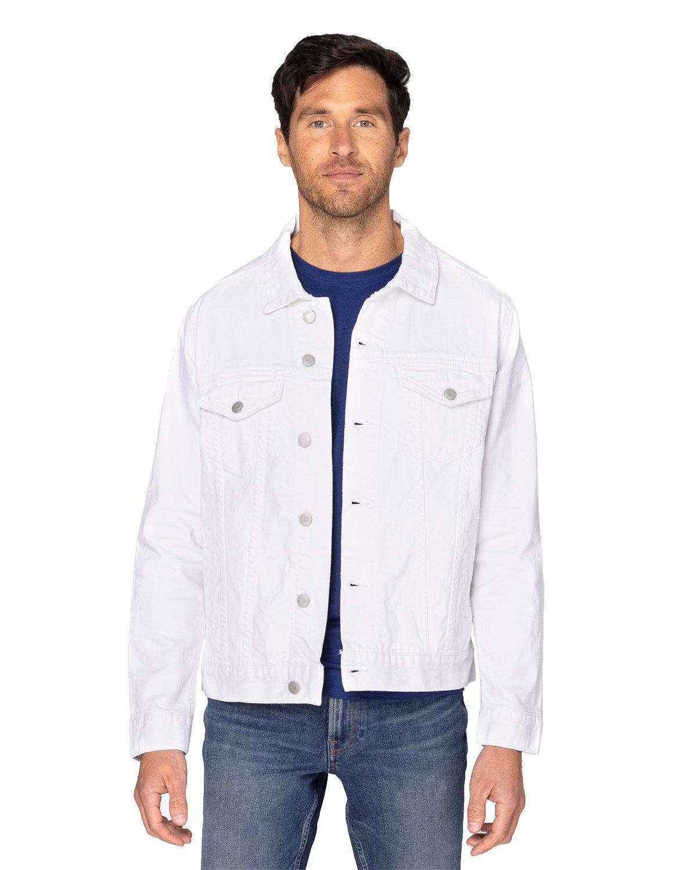 Threadfast Apparel Unisex Denim Jacket OFF WHITE DENIM