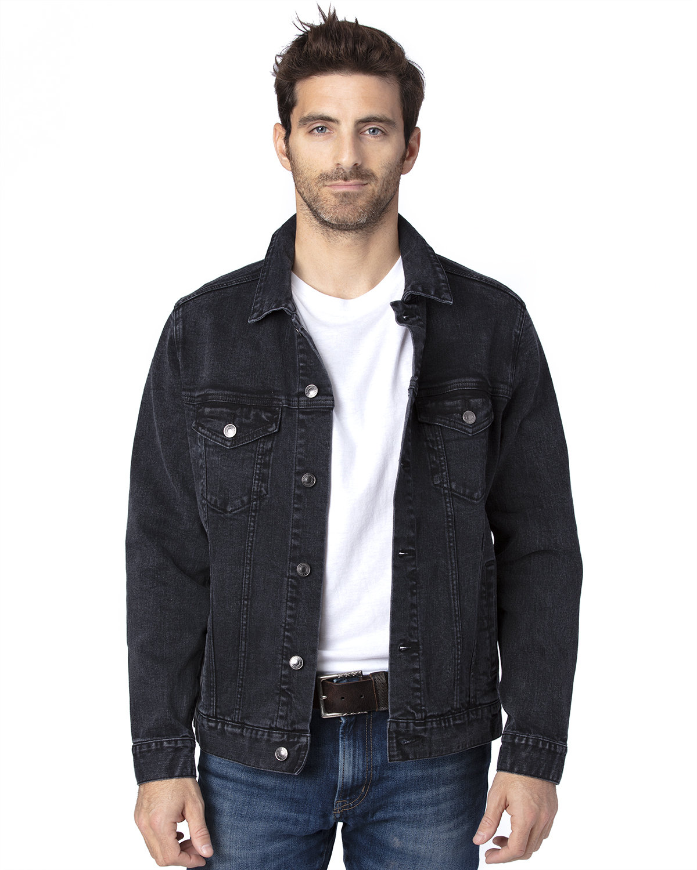 Threadfast Apparel Unisex Denim Jacket BLACK DENIM