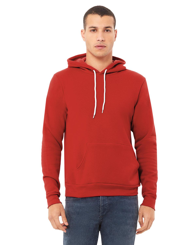 Bella + Canvas Unisex Sponge Fleece Pullover Hooded Sweatshirt RED
