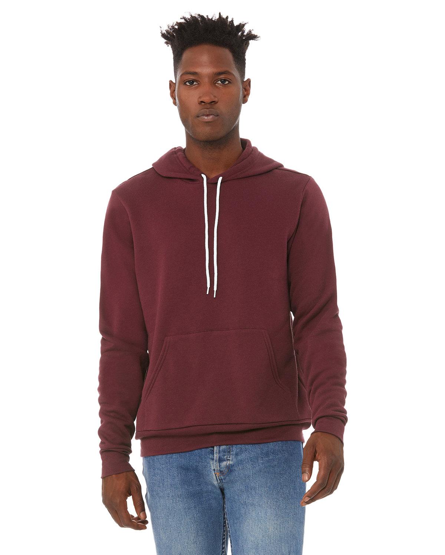 Bella + Canvas Unisex Sponge Fleece Pullover Hooded Sweatshirt MAROON