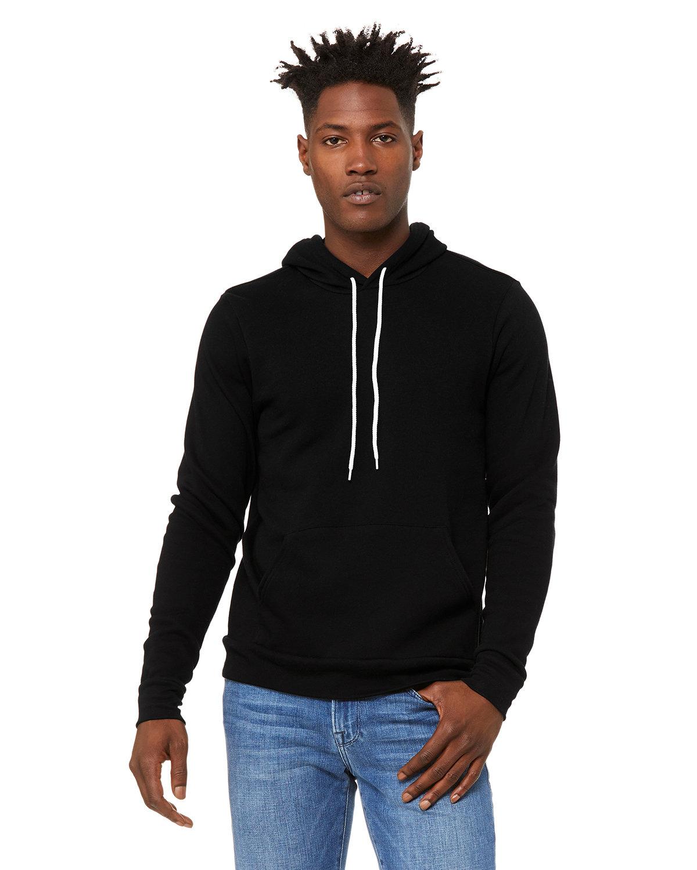 Bella + Canvas Unisex Sponge Fleece Pullover Hooded Sweatshirt DTG BLACK