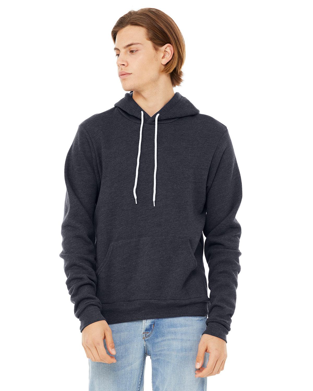 Bella + Canvas Unisex Sponge Fleece Pullover Hooded Sweatshirt HEATHER NAVY