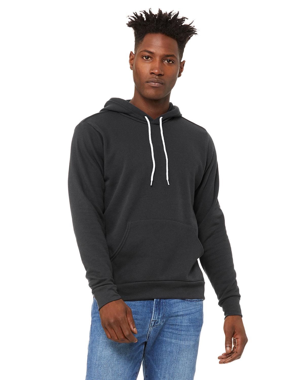 Bella + Canvas Unisex Sponge Fleece Pullover Hooded Sweatshirt DTG DARK GREY