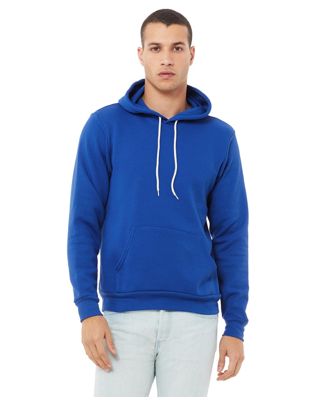 Bella + Canvas Unisex Sponge Fleece Pullover Hooded Sweatshirt TRUE ROYAL
