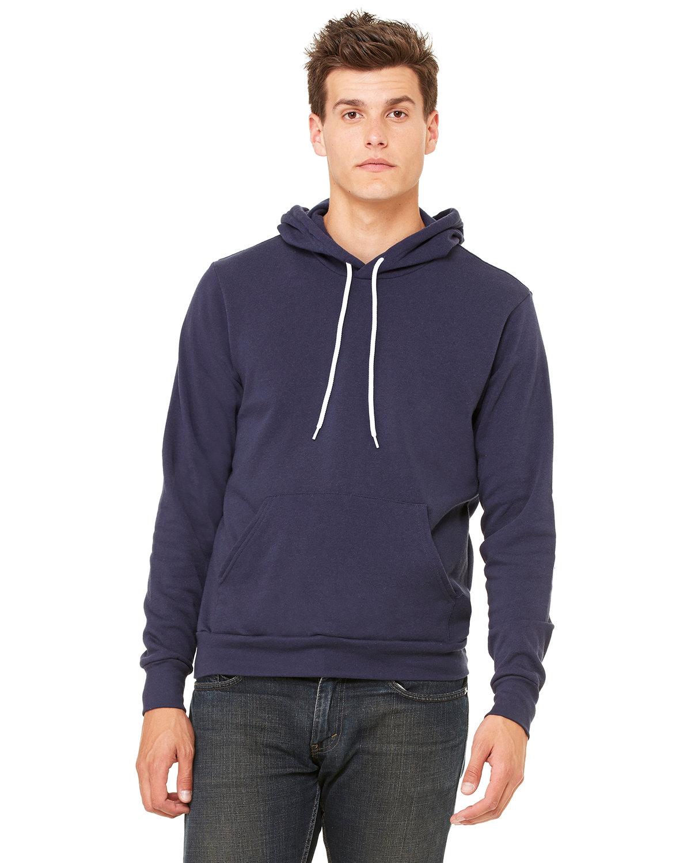 Bella + Canvas Unisex Sponge Fleece Pullover Hooded Sweatshirt NAVY