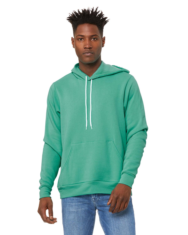 Bella + Canvas Unisex Sponge Fleece Pullover Hooded Sweatshirt TEAL
