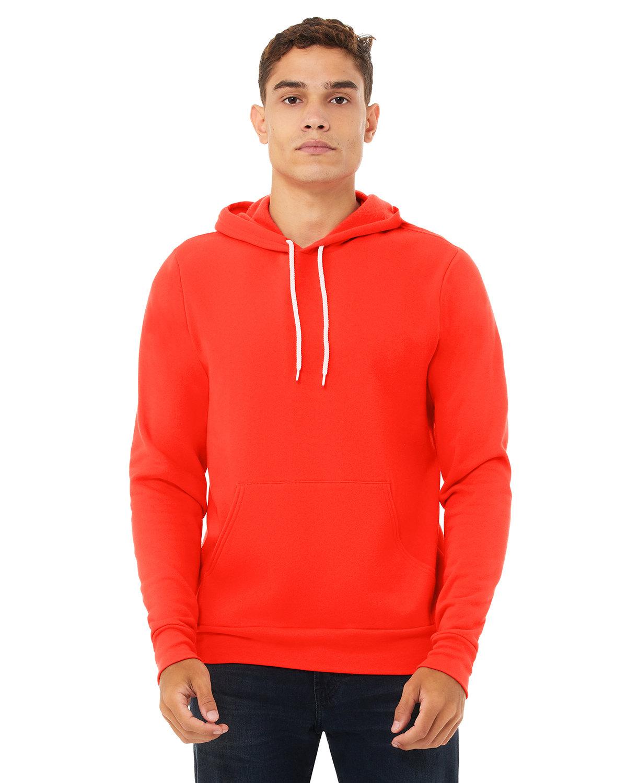 Bella + Canvas Unisex Sponge Fleece Pullover Hooded Sweatshirt POPPY