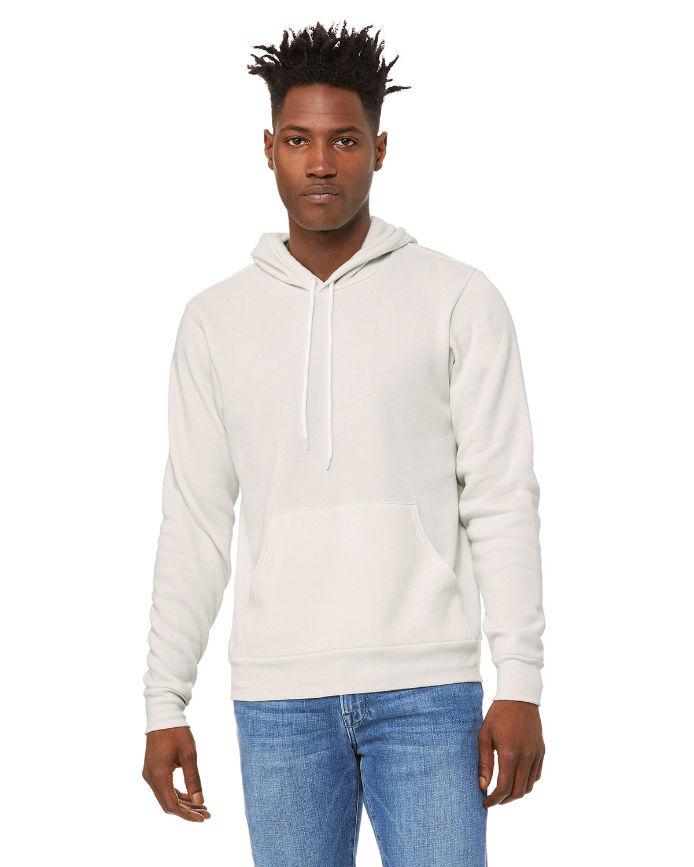Bella + Canvas Unisex Sponge Fleece Pullover Hooded Sweatshirt VINTAGE WHITE
