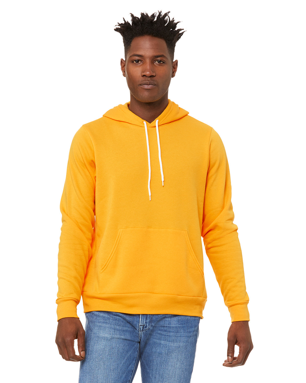 Bella + Canvas Unisex Sponge Fleece Pullover Hooded Sweatshirt GOLD