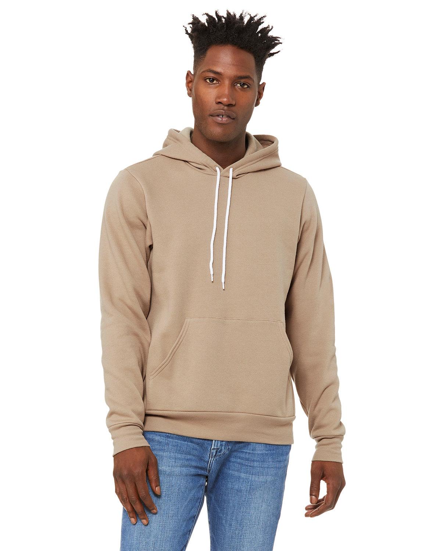 Bella + Canvas Unisex Sponge Fleece Pullover Hooded Sweatshirt TAN