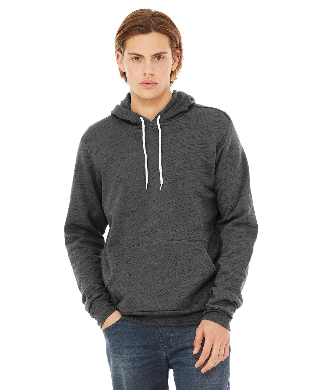 Bella + Canvas Unisex Sponge Fleece Pullover Hooded Sweatshirt DK GRY MARB FLC