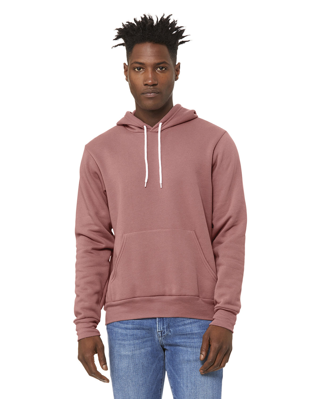 Bella + Canvas Unisex Sponge Fleece Pullover Hooded Sweatshirt MAUVE