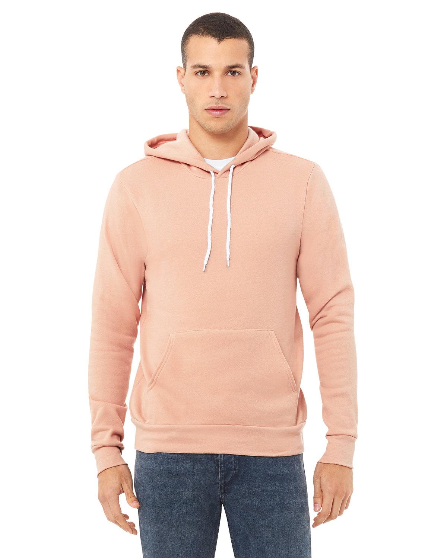 Bella + Canvas Unisex Sponge Fleece Pullover Hooded Sweatshirt PEACH