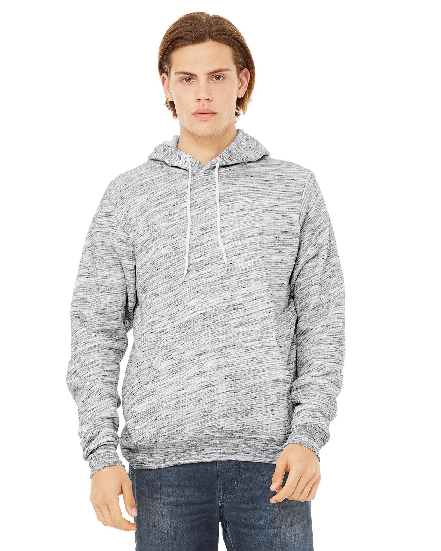 Bella + Canvas Unisex Sponge Fleece Pullover Hooded Sweatshirt LT GREY MARBLE