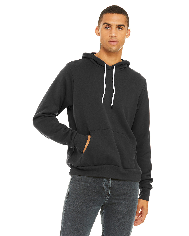Bella + Canvas Unisex Sponge Fleece Pullover Hooded Sweatshirt DARK GREY